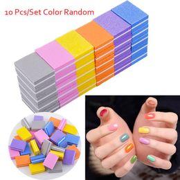 Uv Block Australia - 10 Pcs Colorful Form Sanding Nail File Buffer Block for UV Gel Nail Polish Art Tools Manicure Pedicure Random Color Form