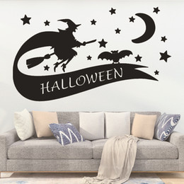 black glasses sticker Australia - Cross-border Explosion Witches Star Night Cross-border Halloween New Bedroom Glass Window Stickers Painted Wall Stickers