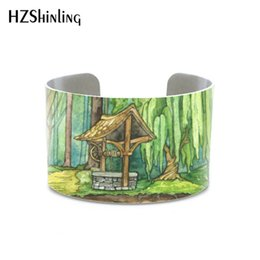 $enCountryForm.capitalKeyWord Australia - Galaxy Painting, Night Sk Bag End metal bangle Originality Enchanted Forest bracelet Starry Night jewelry free gifts