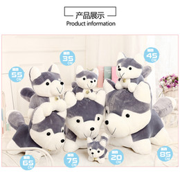 wholesale husky toys NZ - New Lovely Cartoon Plush Toys, Husky Stuffed Animals Dolls, Bolsters, Pillows, for Party Kid' Birthday Gifts, Collecting, Home Decorations