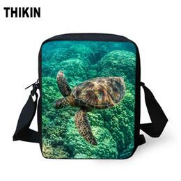 $enCountryForm.capitalKeyWord Australia - ThiKin 3D Sea Turtle Pattern Messenger Bags Kids Bookbag Teenager Crossbody Bag for Children Students Mini Shoulder Bag Custom