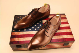 new pointy shoes men Australia - New style British style Men Dress Shoes Quality Men Formal Shoes Lace-up Men Business Oxford Shoes Mens Wedding Pointy Shoe