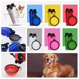 taşınabilir pet Çanaklar T2I5085 açık Yeni Pet gıda şişe taşınabilir katlanabilir pet seyahat kase kedi ve köpek içme suyu
