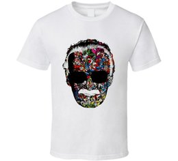 Discount floral printed tshirt men - 2018 Memory Of Stan Lee Marvel Head Base Ball Superhero Tshirt