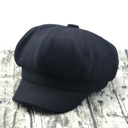 Black ladies sun hat online shopping - Hot Tweed herringbone Gatsby Cap Hat Mens Ladies Flat Panel Baker Boy Newsboy Hot beret