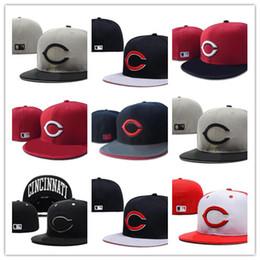 5d64337d69 Barato Equipado chapéus chapéu de Cincinnati sunhat Tampão de Vermelhos  Equipe de Beisebol Bordado Equipe Plana Brim Adulto Beisebol