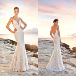 $enCountryForm.capitalKeyWord Australia - Lace Sheath V Neck Beach Modest Cheap Wedding Dresses Nigeria Bridal Gowns Vestidos De Novia 2019 Empire Waist Wedding Gowns