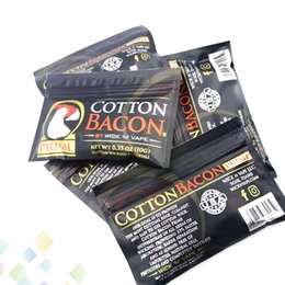 Made organic online shopping - PRIME COTTON BACON Made in China Pure Organic Cotton Wick n Vape Fiber For Ecig DIY RDA RTA Tank Atomizer DHL Free