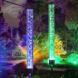 2pcs solare da giardino luci esterne solare Acrylic Bubble RGB che cambia solare luci di palo alimentato per il giardino patio del cortile Pathway Decor in Offerta