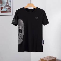 de manga curta tamanho T-shirt das mulheres dos homens de moda T-shirt T-shirt do desenhista PP verão designer de impressão guindaste hip-hop dos homens marca em Promoção