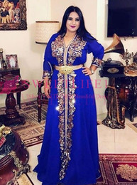 $enCountryForm.capitalKeyWord Australia - Elegant Royal Blue Muslim Evening Dress Moroccan Kaftan Robe De Soiree Dubai Lace Applique Formal Dress Long Sleeve Women Party Gowns