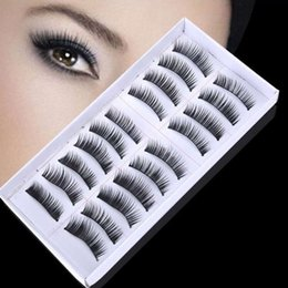 12mm eyelashes NZ - New 20pcs Handmade Long Cross False Eyelashes Make up Natural Fake Thick Black Eye Lashes Extension Beauty Tools