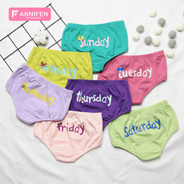 bf338828b363 Cotton breathable letters week pants seven color fashion underwear boys and girls  cute cartoon briefs summer shorts Colored letters Panties