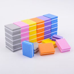 $enCountryForm.capitalKeyWord Australia - 20pcs lot Double-sided Mini Nail File Blocks Colorful Sponge Nails Polish Sanding Buffer Strips Nail Polishing Manicure Tools