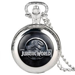 Black Blocks Australia - Jurassic World 2 Dinosaur Building Blocks Quartz Pocket Watch Necklace Jurassic Dinosaur Figure Bricks Tyrannosaurus Rex Pendant