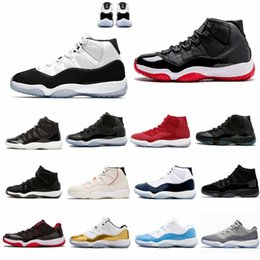 With Box 11 Space Jam Bred+ Number 45 new Concord Basketball Shoes Men Women shoes 11s red Navy Gamma Blue 72-10 Sneakers