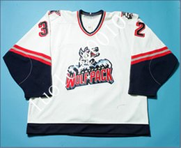$enCountryForm.capitalKeyWord Australia - Hartford Wolf Pack Peter Fiorentino Colin Pepperall hockey jersey Embroidery stitching to customize any name and number