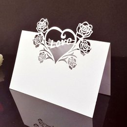 Home & Garden Festive & Party Supplies New Hot 50 Pcs Hollow Out Wedding Birthday Table Decoration Place Name Cards