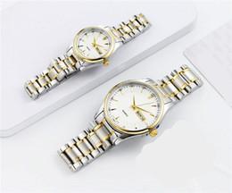 Valentine Gifts For Ladies Australia - Couple Luxury women men watches Fashion Stainless steel Gold Brand Quartz Classic Wrist watch for Mens Ladies best Valentine gift relogios
