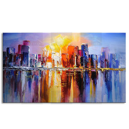 Original Oil NZ - Hand painted abstract oil painting on canvas modern 100% best art original directly from artist COX1-023