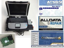 Alldata v10.53 + mitchell on demand 2015 + softwares atsg 3 em 1TB HDD + Laptop cf-19 Pronto para usar DHL grátis