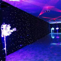 Großhandel 3m x 4m schwarz DJ DMX LED Star Tuch Hintergrund mit LED Starlight mit Controller LED Star Tuch Vorhang Licht Bühnenbeleuchtung Dekoration