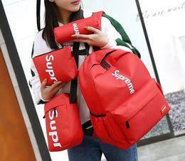 $enCountryForm.capitalKeyWord Australia - New Four-piece Designer Backpack Branded Letters Casual Breathable Canvas School Bags Multi-purpose Back Packs For Student Shoulder Bag