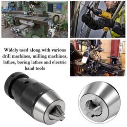 $enCountryForm.capitalKeyWord Australia - Keyless Light Duty Drill Chuck For Machine Tools Alloy Self-locking Click Adapter For CNC Milling Drilling Lathe Tool