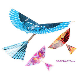 $enCountryForm.capitalKeyWord Australia - Rubber band power bird Models toy children's puzzle new DIY Kite Bionic Air Plane action Assembly Gift parent-child interaction