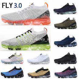 Women Winter Shoes 36 Australia - 2019 Top Fly 3.0 Men Women Running Shoes Triple Black White Blue Knit Brand New 3s Jogging Sneakers Designer Sport Shoes 36-45
