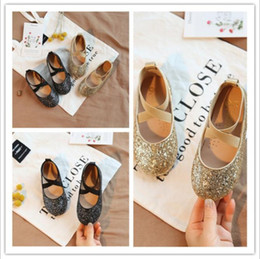 $enCountryForm.capitalKeyWord NZ - Children Princess Sandals Elegant Kids Girls Wedding Shoes Gold Dress Leather Shoes Party Shoes For Girls