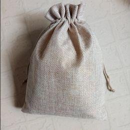 $enCountryForm.capitalKeyWord Australia - 30Pcs fashion Simple Burlap Jute Gift Bags nylon thread drawstring bags Wedding Party Birthday Christmas jewelry gift Packaging