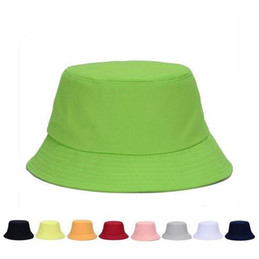 $enCountryForm.capitalKeyWord Australia - High Quality Cotton Foldable Bucket Hat For Adults Mens Womens Plain Custom Fishing Caps Spring Sunmmer Fall Blank Beach Sports Sun Visor