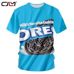 069f26b4b Cjlm 3d Men Favorite Snacks Cookies Oreo T Shirt Unisex Clothes Tops Dry  Quickly Fashion T-shirt Brand Design Short Sleeve Tees C19041001