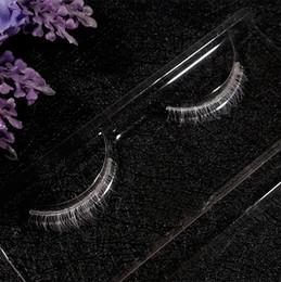 Lower Bottom False Eyelashes Australia - White Lower Bottom Eyelashes Cross False Eye Lashes Makeup 2019 fashion