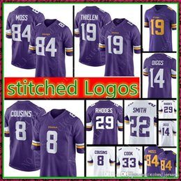 14 Stefon Diggs 22 HARRISON SMITH 8 Kirk Cousins 19 Adam Thielen Jersey Men  Minnesota Vikings 29 Xavier Rhodes Football Jerseys 5fe16c6c2