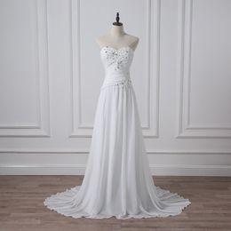 $enCountryForm.capitalKeyWord Australia - Wedding Dress Sweetheart Sleeveless Corset Chiffon Beach Bridal Gown Plus Size White Ivory Custom For Formal Occasion