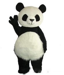 $enCountryForm.capitalKeyWord UK - Long Hair Panda Bear Mascot Costume Adult Mascot Men's for Party and Valentine's Day Thanksgiving Day Christmas Halloween and New Years