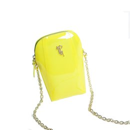 $enCountryForm.capitalKeyWord NZ - Jelly handbag Candy transparent bag Chain shoulder bag Mini lady New type of oblique Bag Chain Mobile Pack