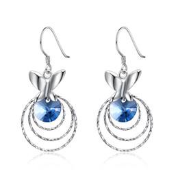 72cc56dca1448 Blue Rhinestone Chandelier Earrings Australia | New Featured Blue ...