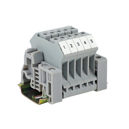 Block Industrial Australia - UK5N UK Series DIN Rail Screw Clamp Terminal Blocks Assembly Strip Kit