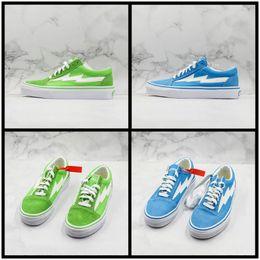 $enCountryForm.capitalKeyWord Australia - Update Revenge X Storm Old Skool Lightning Canvas Shoes For Men Womans Casual Blue Green Designer Trainer Street Fashion Sport Skate Sneaker