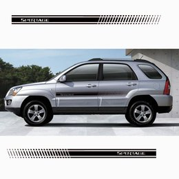 car body sticker accessories NZ - Stylish car door side sticker vinyl body decal racing stripe sticker for Kia Sportage Car accessories