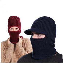 Unisex Windproof caps thickened caught wearing earmuffs Hat Balaclava face  mask scarf winter wind beanies scarf Hat MMA1187 d4ebd4afd49b
