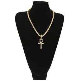 Necklaces Pendants Australia - Brand Hip Hop Style Mens Chain Trend Personality Cross Pendant Necklace Luxury Crystal Rhinestone High Street Jewelry Accessories