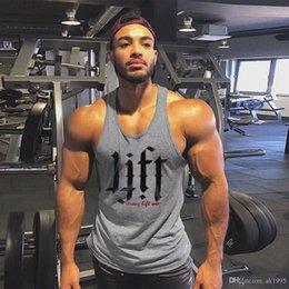 Опт Imported мужской фитнес-тренажерный зал жилет без рукавов рубашки спортивный хлопок лифт слово тренировочный жилет, модные модели взрыва