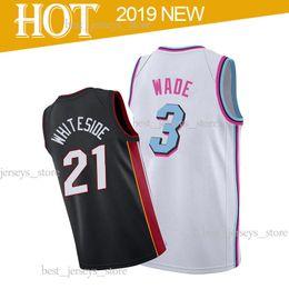 cd5bc9cc 21 Whiteside Basketball Jerseys 3 Wade 7 Dragic Free shopping 18 19 Top MEN  shirt 2019