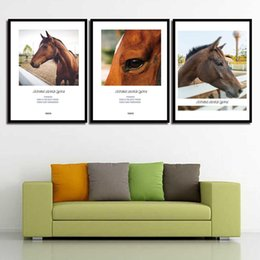 Art Canvas Prints Australia - HD Paintings Wall Art Print Nordic Animals Horse Modern Quotes Canvas Posters Pictures For Office Living Room Home Decor