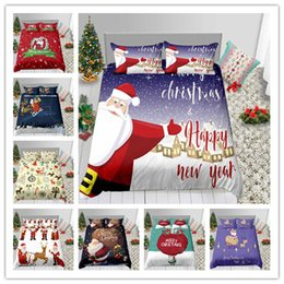 $enCountryForm.capitalKeyWord Australia - Merry Christmas Santa Claus Bedding Set Hot Sale Fashion Duvet Cover Single Double King Size Holiday Gifts Bed Sheet