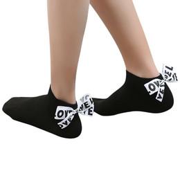 $enCountryForm.capitalKeyWord UK - MUQGEW short socks for girls women summer Women Cotton Bow Love Letter Ankle High Socks Short Socks#Y2